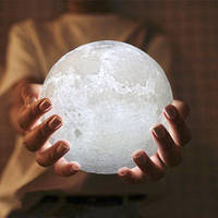 """3D светильник-Ночник """"Луна"""" 15 см 3DTOYSLAMP"""
