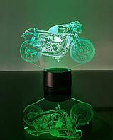 """Детский ночник - светильник """"Мотоцикл 7 """"   3D TOYSLAMP, фото 1"""