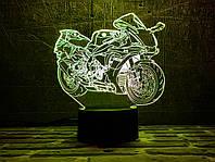 """Детский ночник - светильник """"Мотоцикл 8 """"   3D TOYSLAMP, фото 1"""
