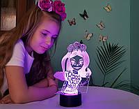 """Детский ночник - светильник """"Монстер Хай 2 """" 3DTOYSLAMP"""