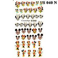 Наклейки для Ногтей PhotonailArt Водные Разноцветные, Малая Пластина, Angevi S 040 N