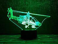 """Детский ночник -светильник """"Вертолет 3 """" 3DTOYSLAMP, фото 1"""
