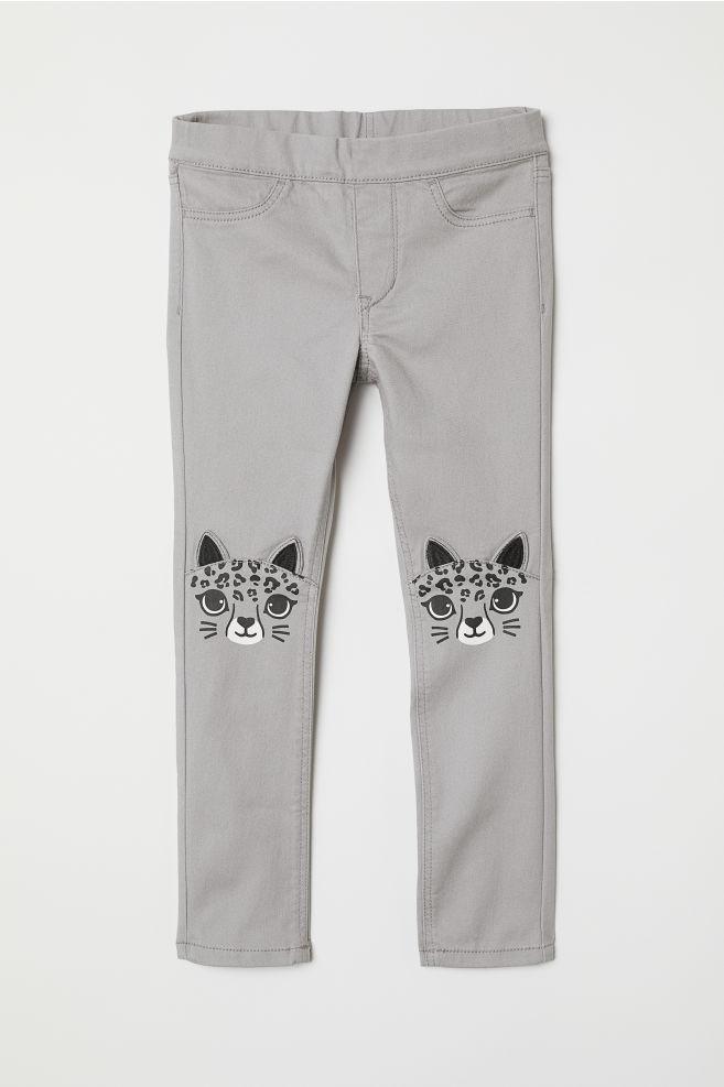 Стильные брюки H&M с мордашками на 2, 3, 4, 5, 6 лет