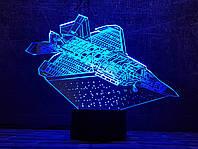 """3D светильник ночник """" Самолет 6  """" 3DTOYSLAMP, фото 1"""