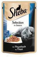 Sheba влажный корм для кошек тунец в соусе 85гр*12шт