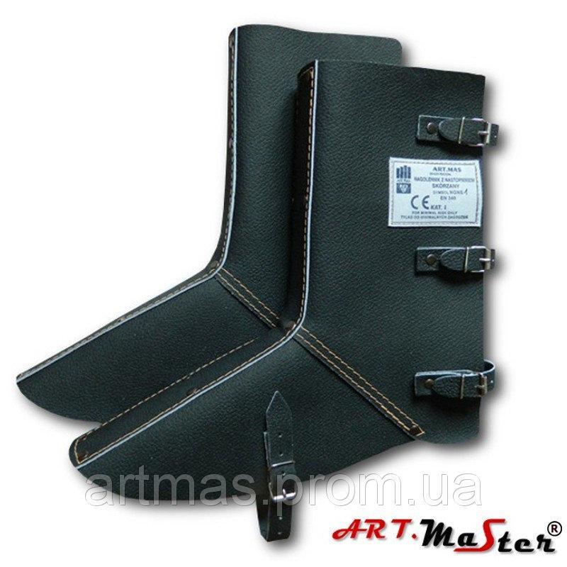 Наголенники с защитой для ног ARTMAS черного цвета NGNS1