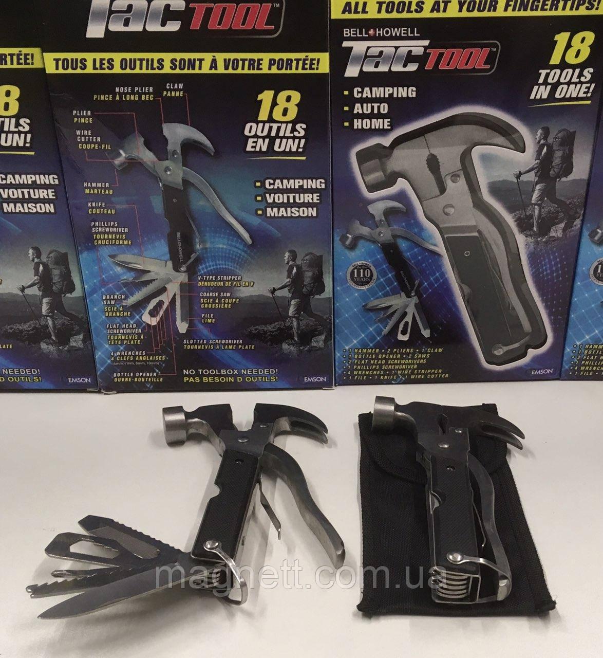 Молоток-гвоздодер Tac Tool 18 в 1 Мультитул