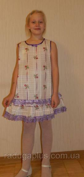 Платье детское летний сарафан,7-8 лет, 134-140 см, Киев. Красивый подарок для девочки - РАДУГА в Киеве
