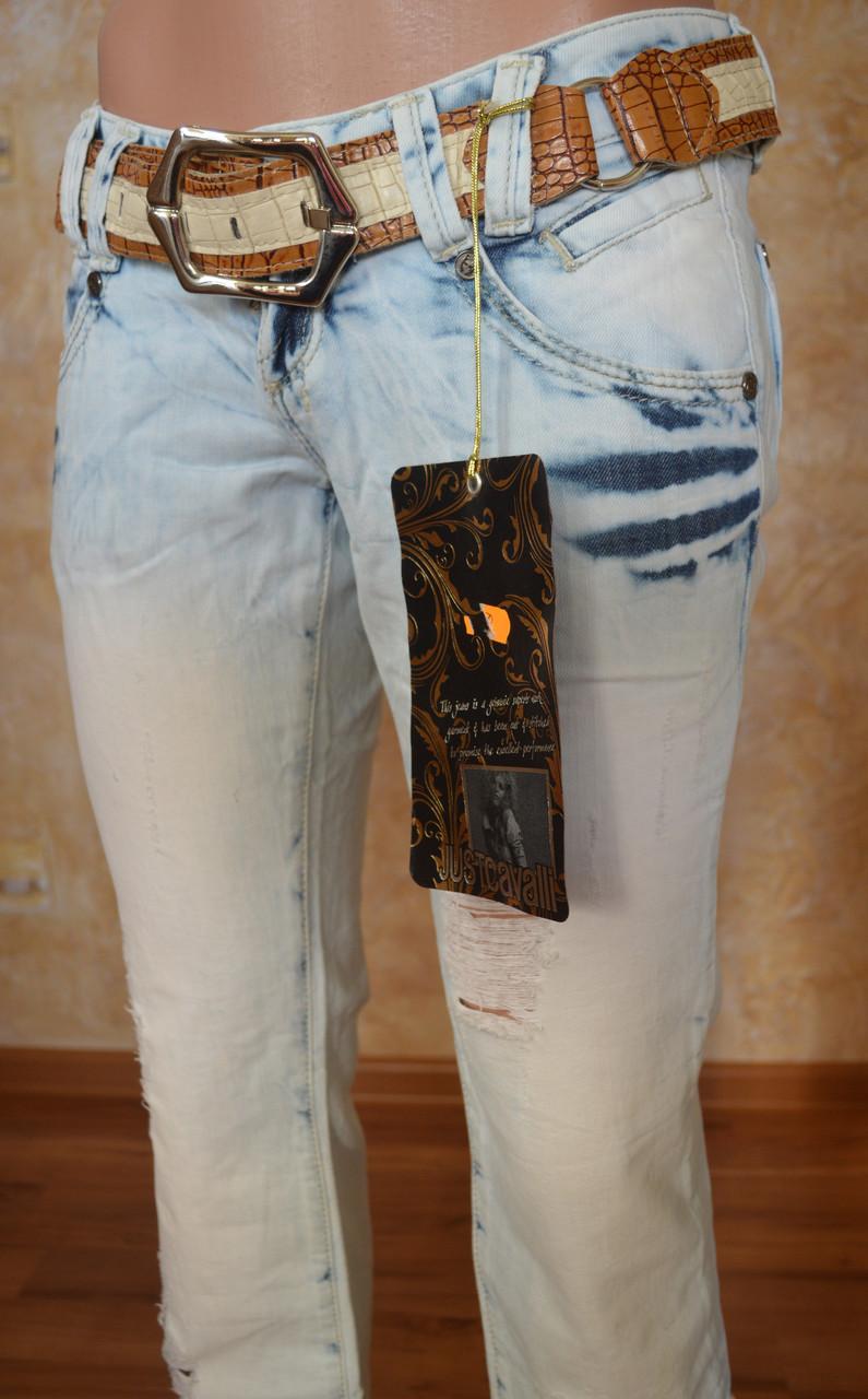 Рваные женские джинсы JUSTCAVALLI (копия)