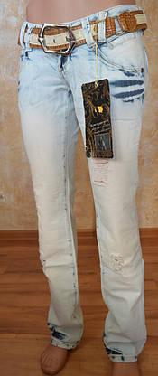 Рваные женские джинсы JUSTCAVALLI (копия), фото 3
