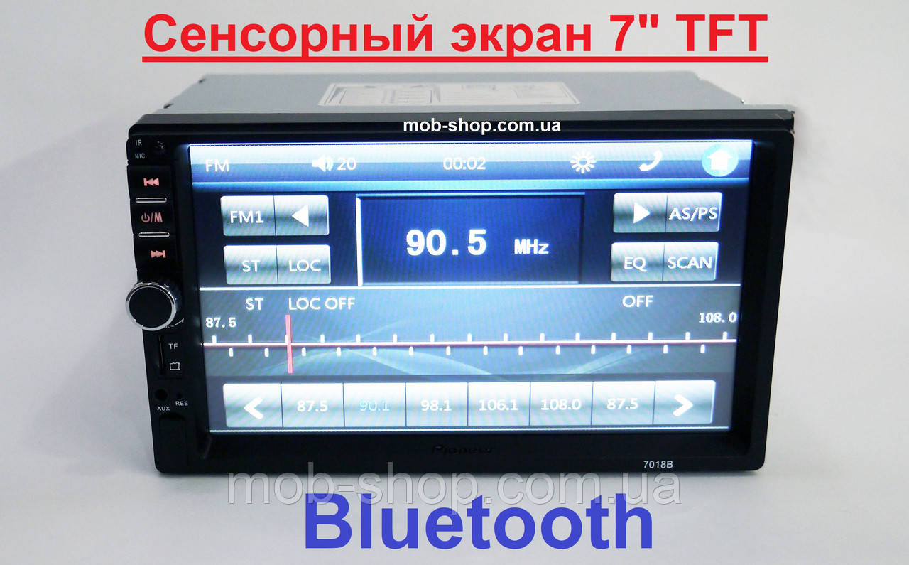 "Автомагнитола пионер Pioneer 7018B 7"" 2DIN+USB+SD+Bluetooth"