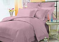 Элитное цветное постельное бельё из страйп-сатина люкс (10807) комплект двуспальный евро 200х220