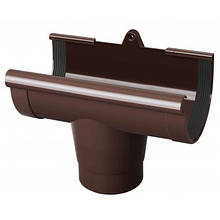 Воронка желоба RainWay 90 мм коричневая