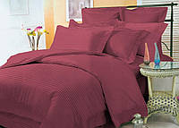 Элитное цветное постельное бельё из страйп-сатина люкс (10814) комплект двуспальный евро 200х220