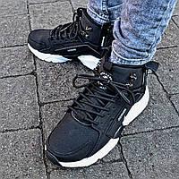 cdc1d1386c2a Зимние мужские кроссовки Nike Huarache X Acronym black white. Живое фото  (Реплика ААА