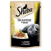 Sheba влажный корм для кошек курица в желе 85гр*12шт