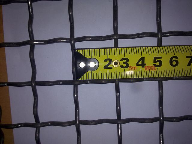 Сетка канилированная 25*25 диаметр проволоки 3.0 мм оцинкованная