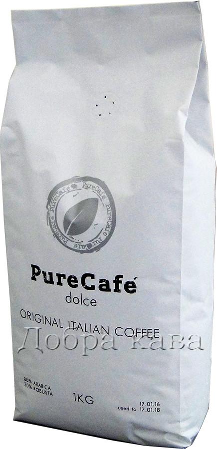 Кофе в зернах PureCafe Dolce (80% Арабика) 1 кг.