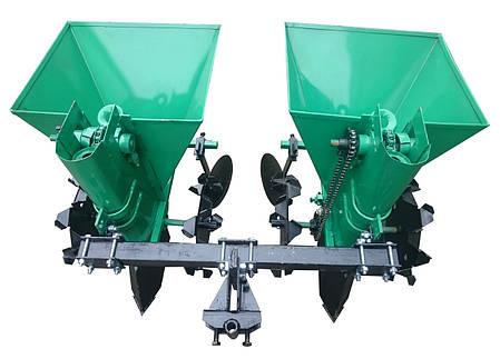 Картофелесажалка двухрядная для мототрактора 68 л NEW (новые грунтозацепы), фото 2