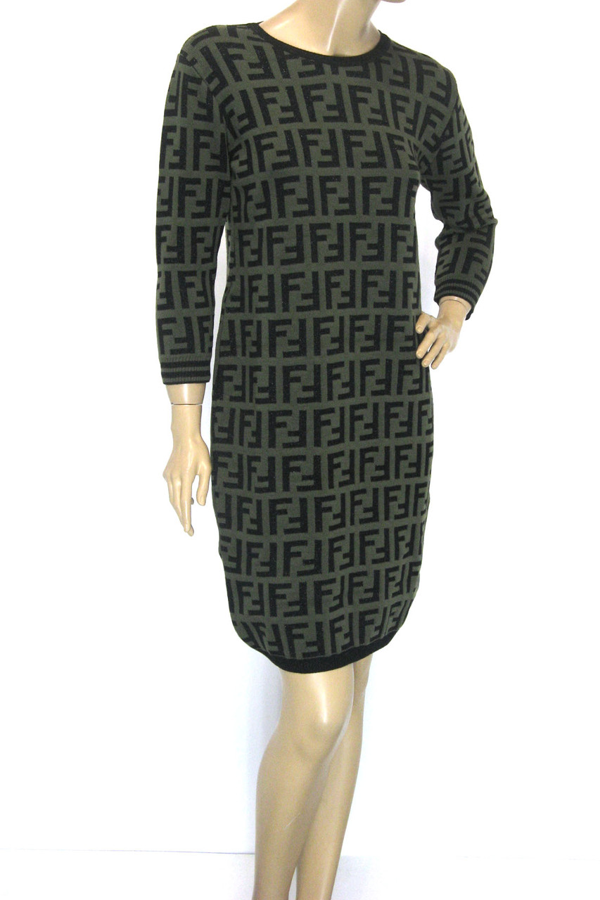 трикотажна зимова сукня Fendi