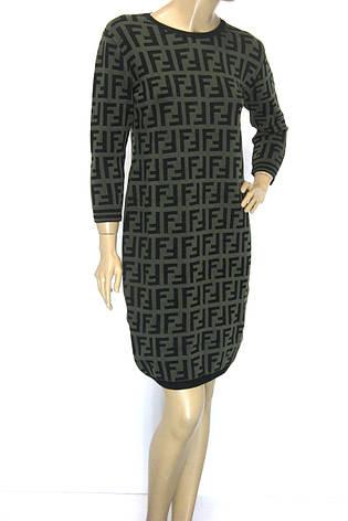 трикотажна зимова сукня Fendi, фото 2