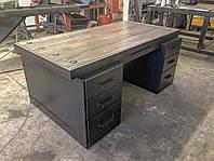 Стол письменный с ящиками стиль индастриал, фото 1