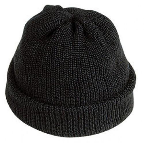 Шапка вязаная зимняя черная