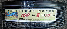 Стрічка крапельного зрошення щілинна IRRI HOSE 8 mills через 10 см 100 м