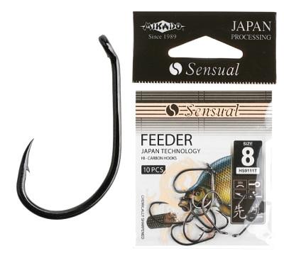 Крючок Mikado Sensual Feeder 9111T Black Nickel 10 шт