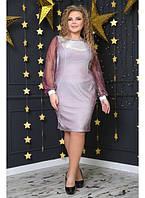 38e1d0a3a4b Женское платье Эльмира цвет люрекс   размер 48-72   большие размеры