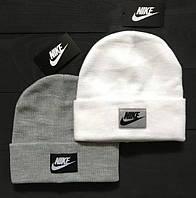 Стильная шапка маленькое лого В стиле Nike   шапка найк - серая 6819c34e07c36