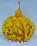 """Новогодняя восковая свеча """"Ёлочная игрушка"""" из натурального пчелиного воска, фото 8"""
