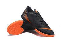 Футзалки (бампы) Nike Mercurial VaporX XII Club IC Black/Total Orange/White, фото 1