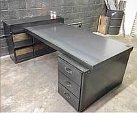 Стол письменный с ящиками стиль индастриал