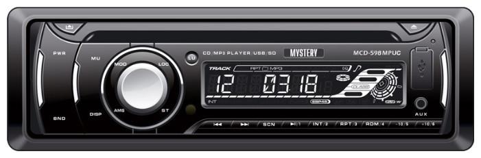 CD/MP3-автомагнитола MYSTERY MCD-598MPUC