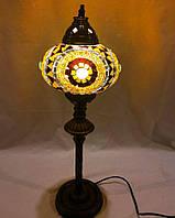 Настольный высокий турецкий светильник Sinan из мозаики ручной работы цветной 1