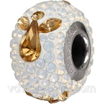 Шарм для браслета Пандора от Swarovski 81933 White Opal