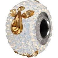 Шарм для браслета Пандора от Swarovski 181933 White Opal
