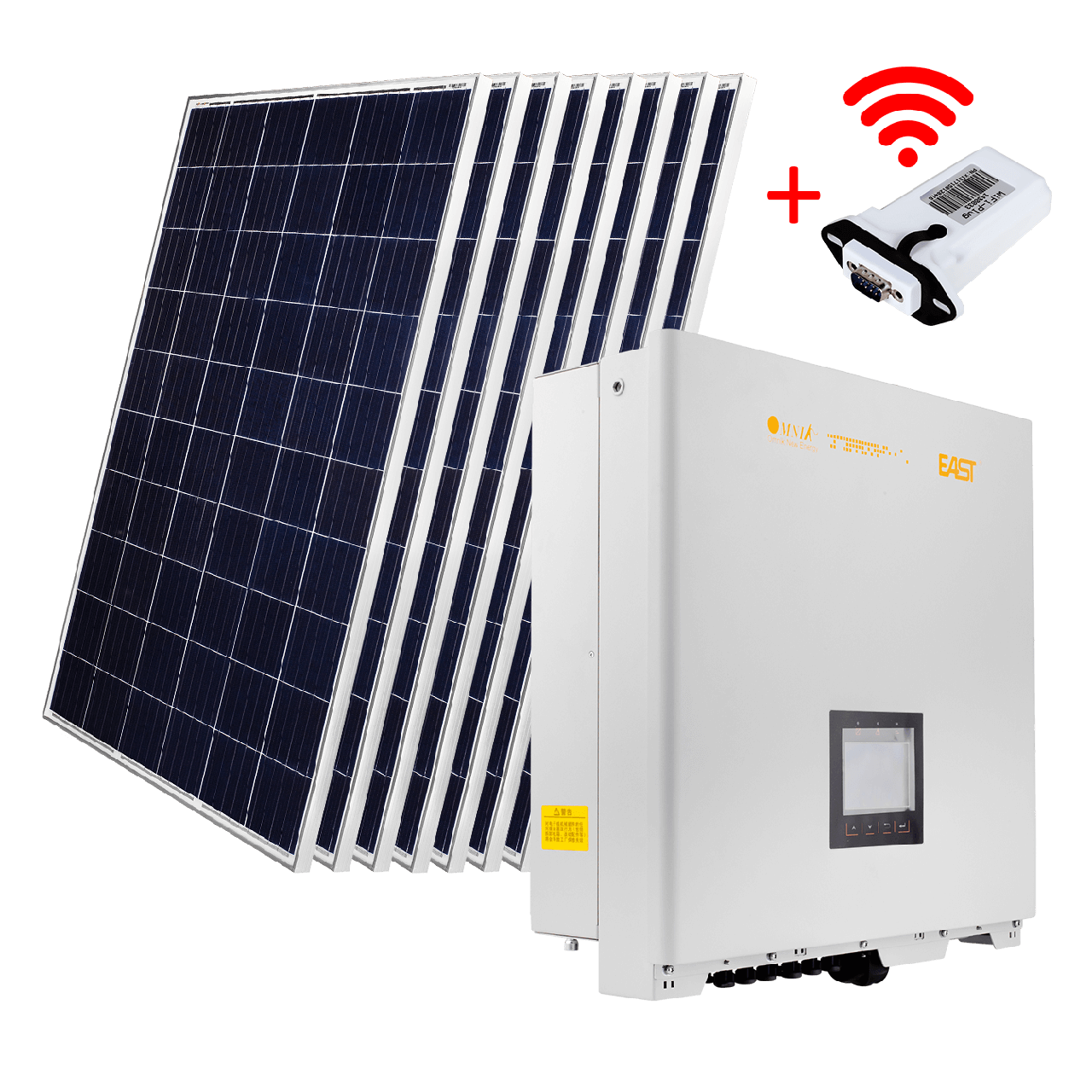 """Комплект СЭС """"Премиум"""" инвертор OMNIK 20kW + солнечные панели (WiFi)"""