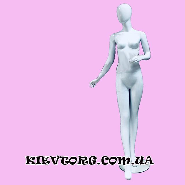 Манекен женский безликий белый черный глянцевый матовый W-30