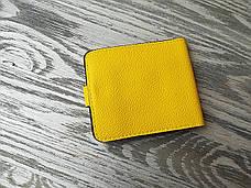 Портмоне лимонного цвета  на 1 отделение, фото 2