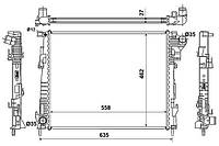 Радиатор системы охлаждения на Рено Трафик II 2.0dci M9R / NRF 53966