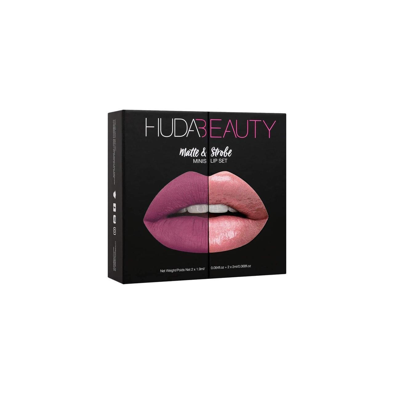 Набор губных помад (mini) HUDA BEAUTY Matte & Strobe mini lip set - Red Edition (Trophy wife)