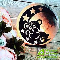 Соляная лампа «Мишка на Луне» 3-4 кг