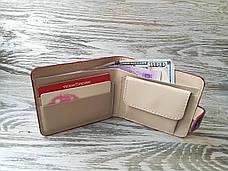 Портмоне цвета фуксии (розовое)  на 1 отделение, фото 2