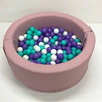 Детский сухой бассейн розовый круглый Пинк, фото 1