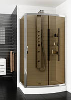 Асимметричная душевая кабина Aquaform SERENGETI с коричневым стеклом 1200x900x2100