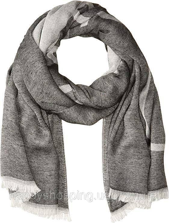 Женский оригинальный серый шарф Calvin Klein