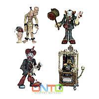 Mezco Dark Carnival Set of 4, Мецко Темный Карнавал сет из 4, Cadaver The Clown, Madam Mortuus, Stitches Clown, фото 1