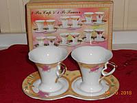 """Подарочный набор """"Кофе для двоих"""" из тонкого японского фарфора  JAMASEN, фото 1"""